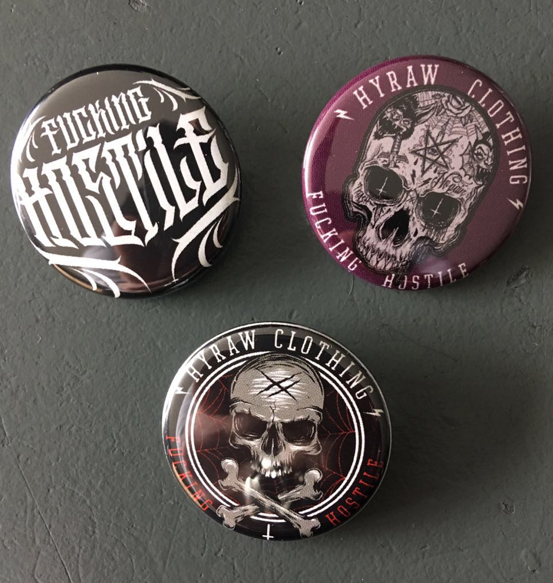 pack 3 badges N2 / 32 MM
