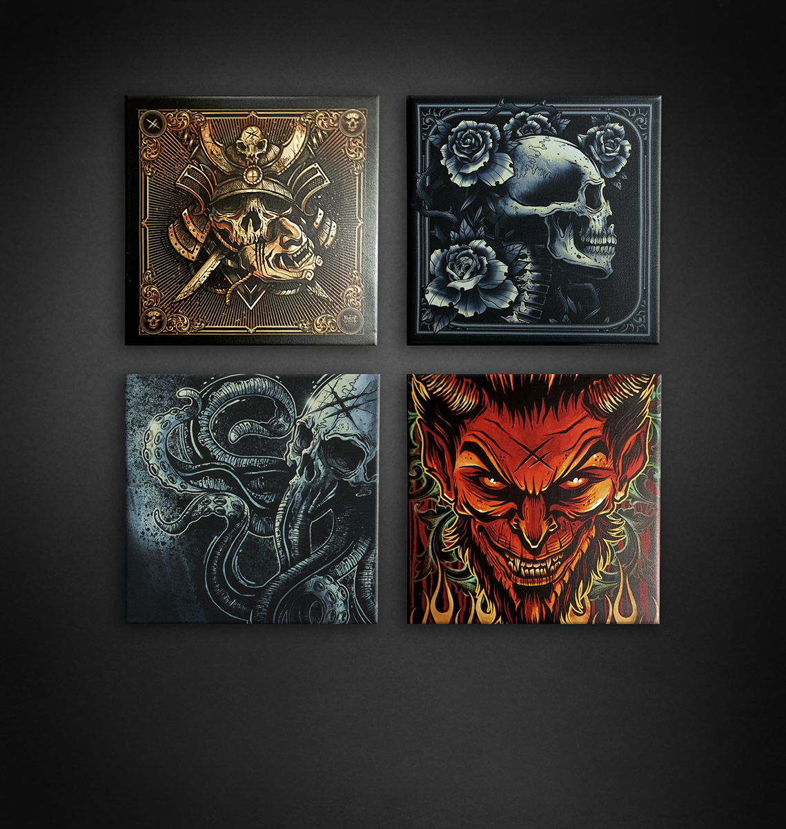 PACK 4 TOILES 20X20CM