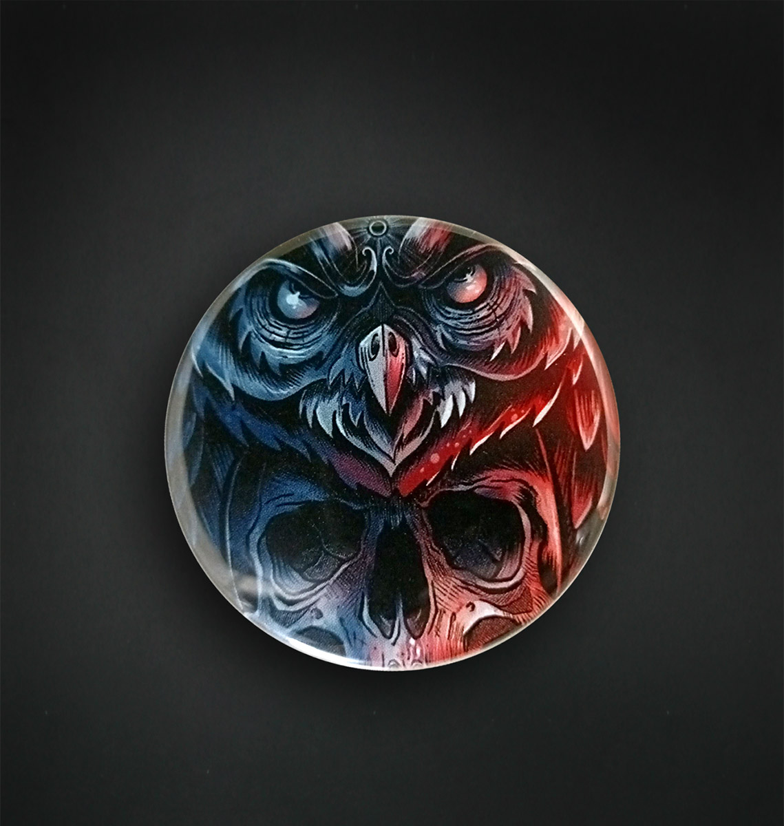 Badge Magnet 56 MM / DEAD OWL