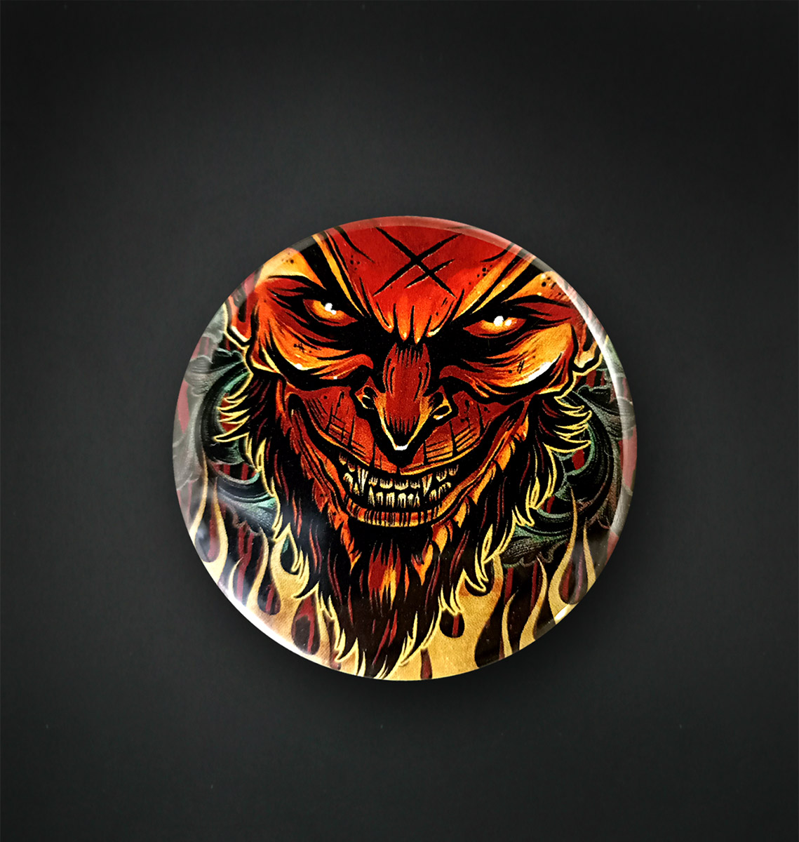 Badge Magnet 56 MM / LUCIFER