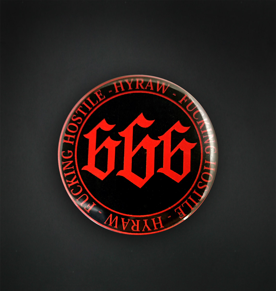 Badge miroir 56 MM / RED 666