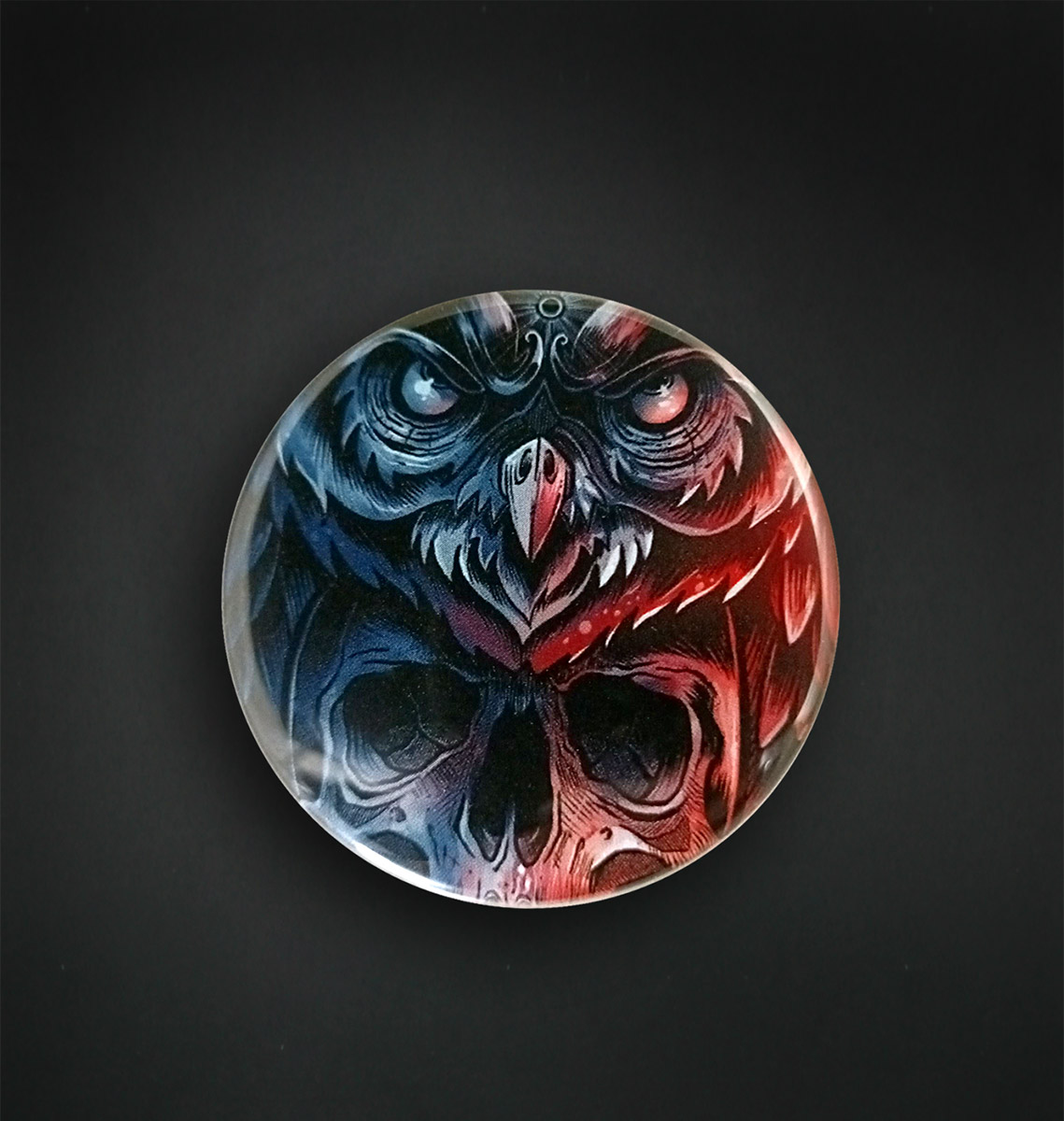 Badge miroir 56 MM / DEAD OWL