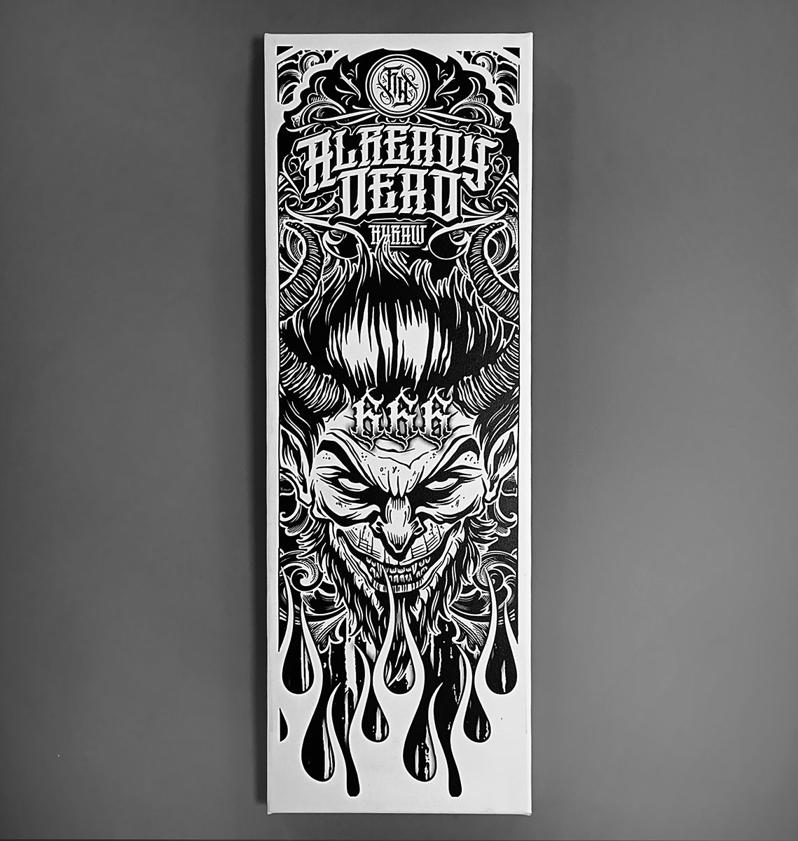 CANVAS 20X60CM LUCIFER BLACK
