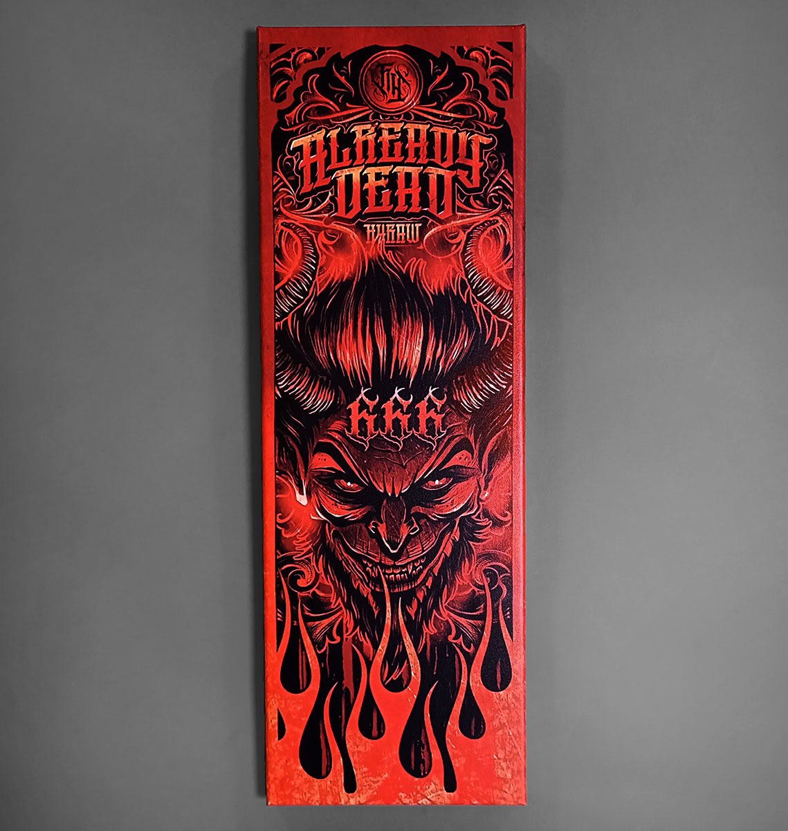 CANVAS 20X60CM LUCIFER RED