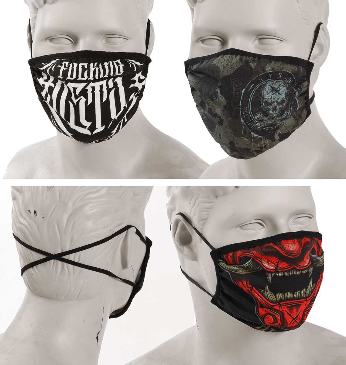 Lot de 3 masques T.