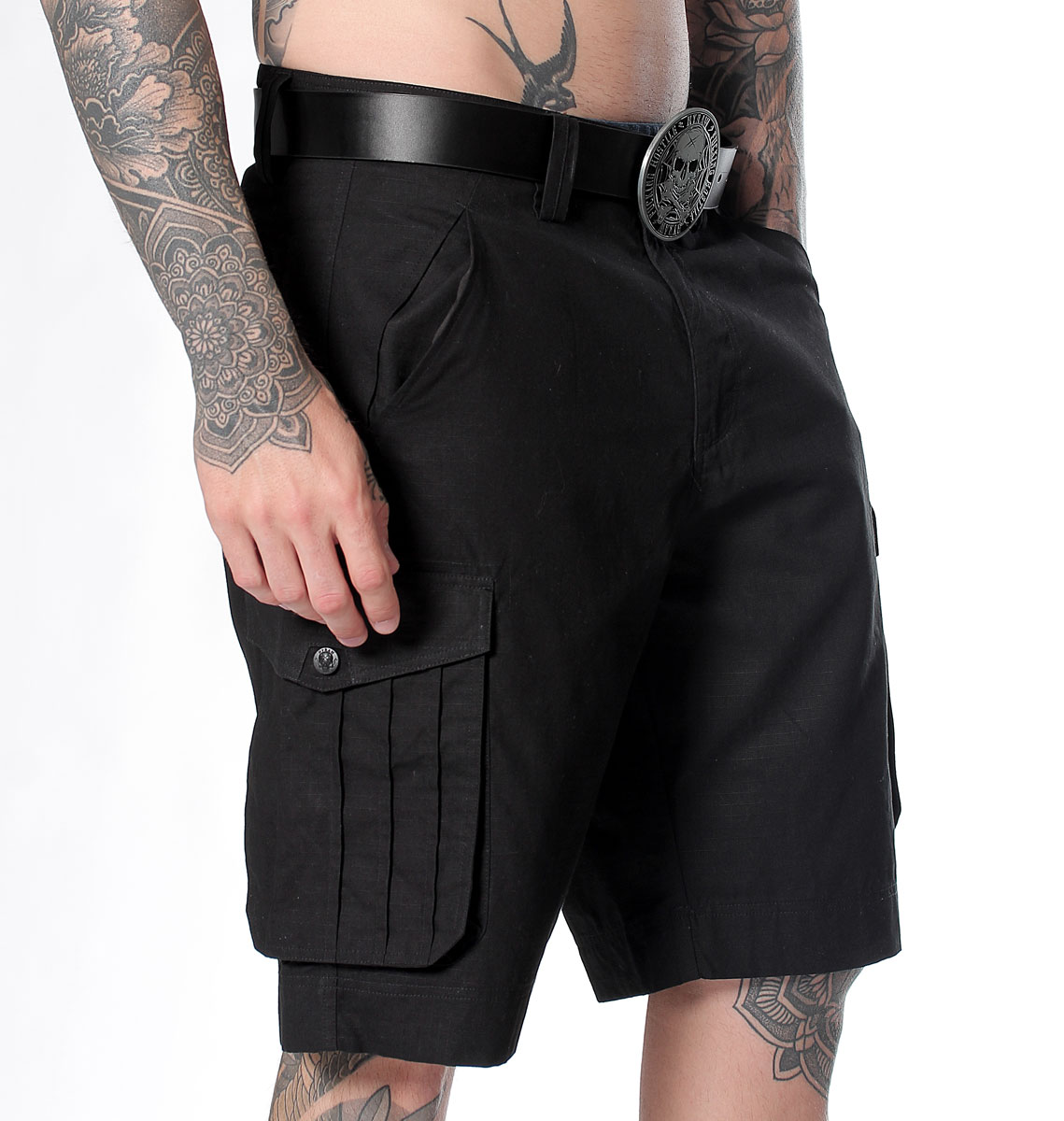SHORT HOMME BLACK CARGO