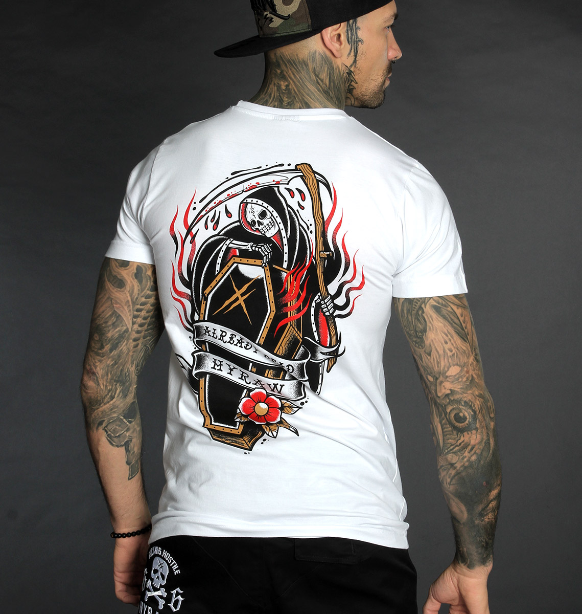 T-shirt COFFIN WHITE