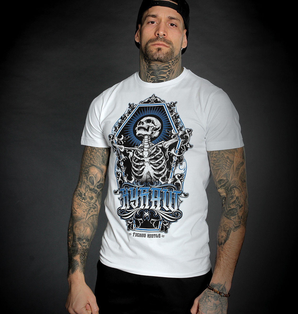 T-shirt SKULL AND BONES WHITE