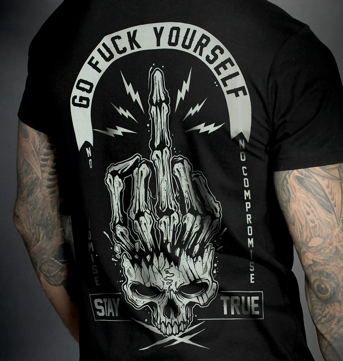 T-shirt GO FUCK BLACK