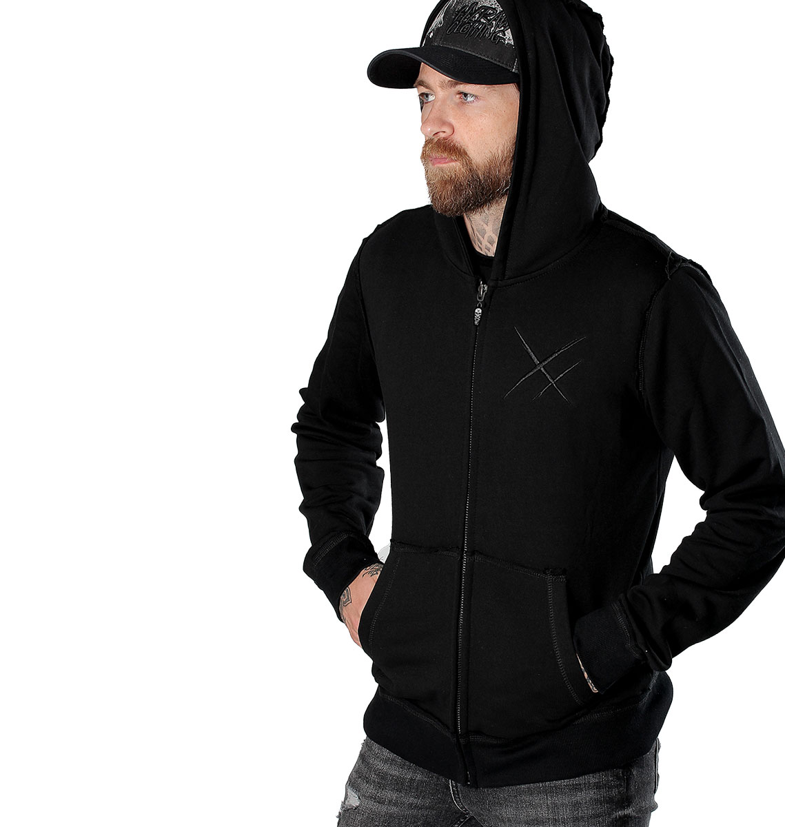 VESTE ZIPPEE HOMME ADDICT BLACK