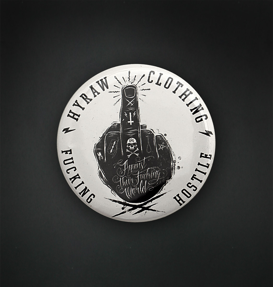 Badge miroir 56 MM / FUCK